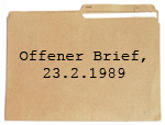 PDF Download: Offener Brief, 23.2.1989 Bild: vusta/iStockphoto