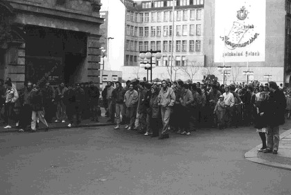 Demonstration in der Leipziger Innenstadt am 15. Januar 1989
