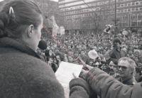 FIDESZ-Protest für die Freilassung des tschechischen Dissidenten Václav Havel, 02.03.1989