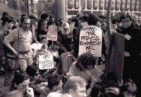 FIDESZ-Protest vor dem Gebäude des Innenministeriums, 27.04.1989